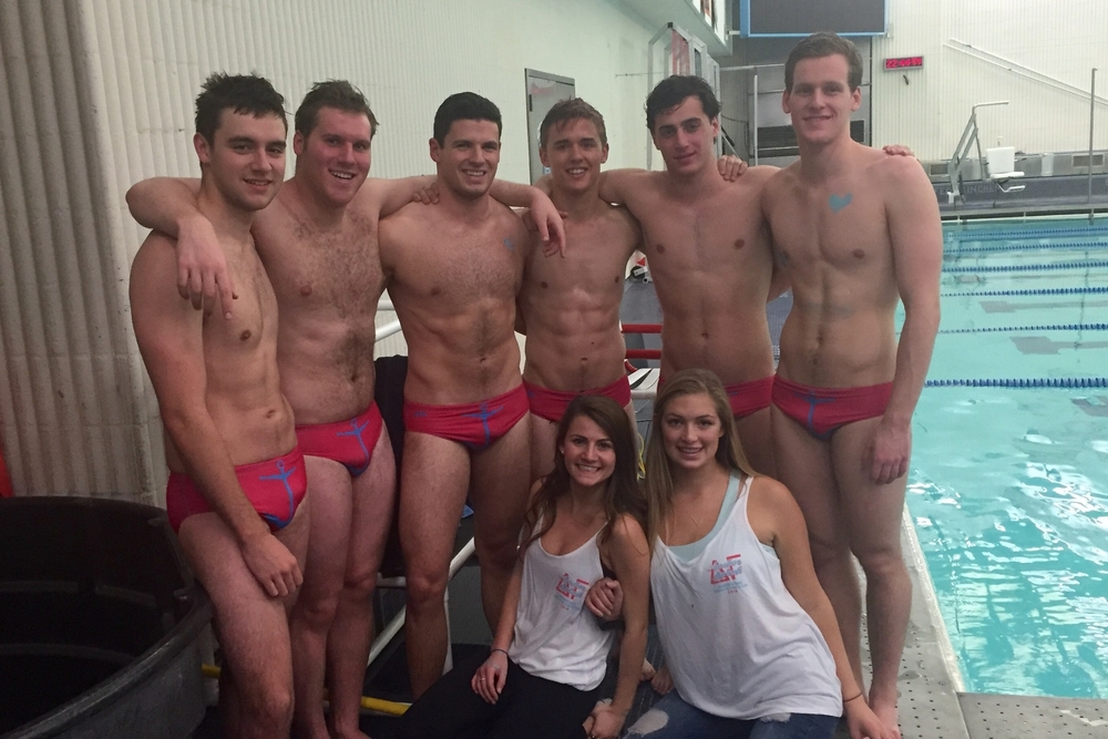 """Meaningful Partnerships:For the past three years, our chapter has participated in Delta Gamma sorority's """"Anchor Splash"""" competition and fundraiser for their national charity Service for Sight."""
