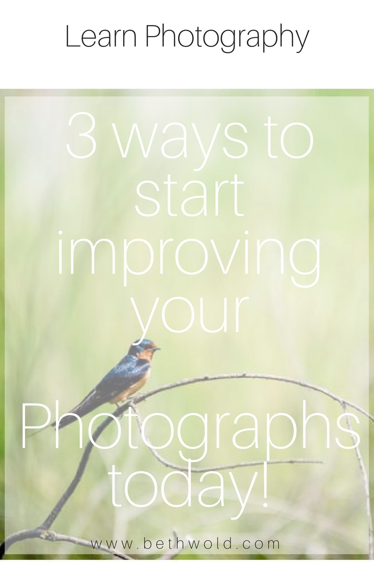 3 ways to start improving your photography immediately.