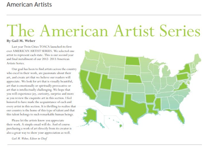 Description of the American Artists Series from the Spring 2013 issue of Exploring TOSCA.