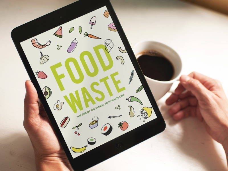 Food Waste  -  Illustration,   Info and Interaction Design