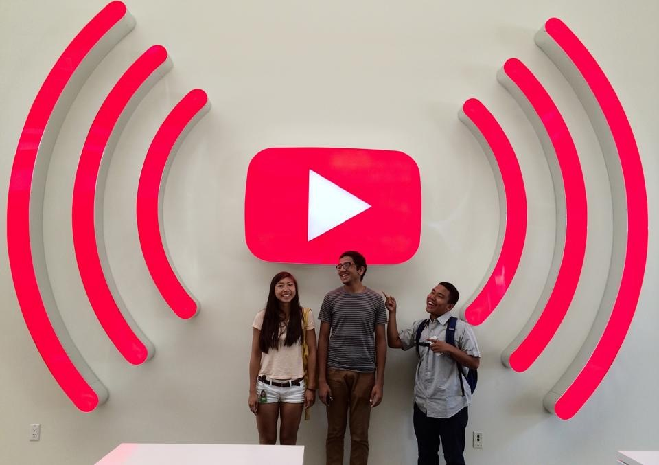 Google UX design interns visit YouTube