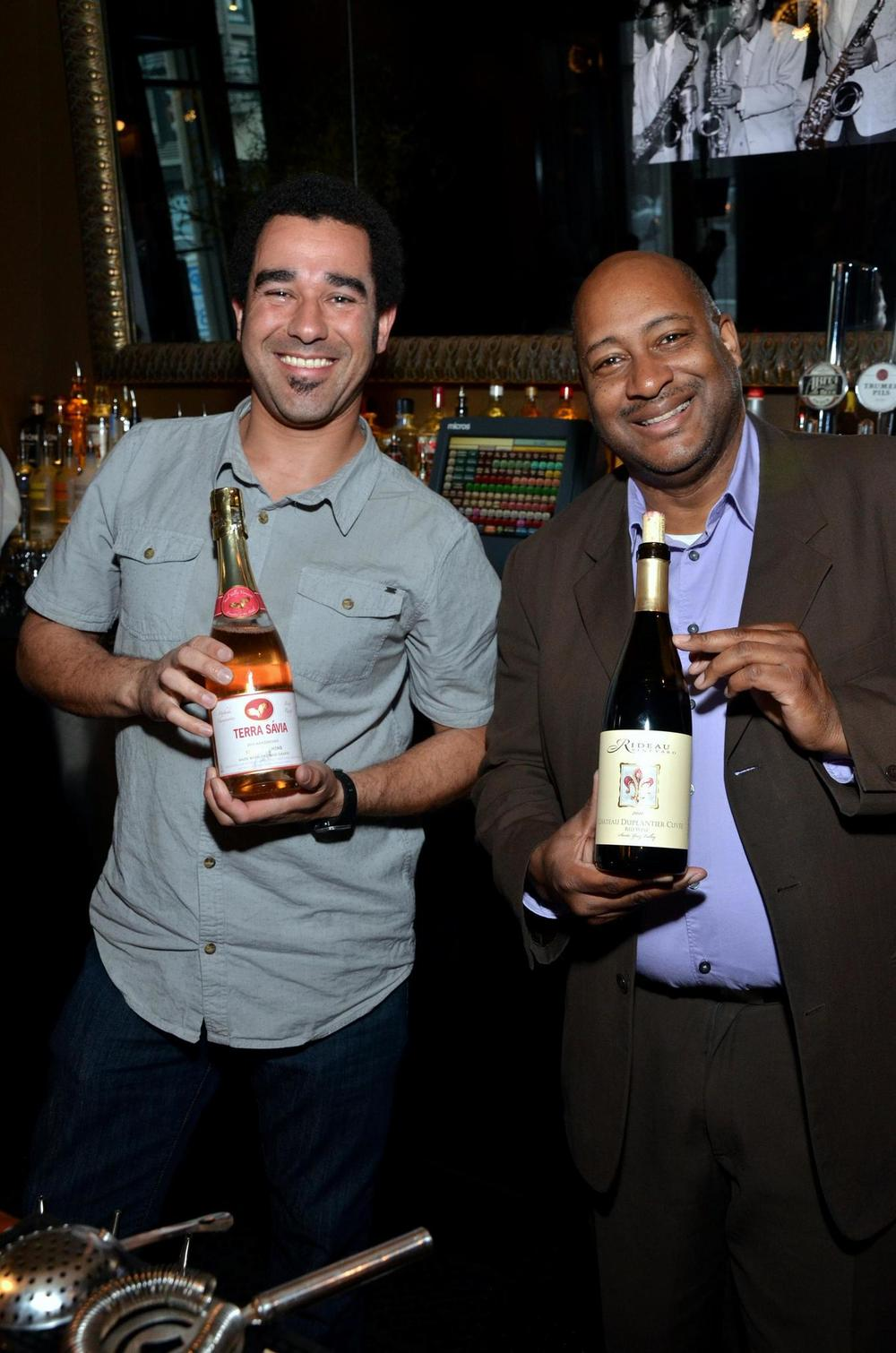 "Our own Pecos Davis at the ""Sips With Soul"" event at 1300 On Fillmore in SF"