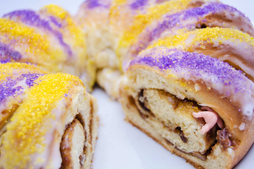 king cake closeup