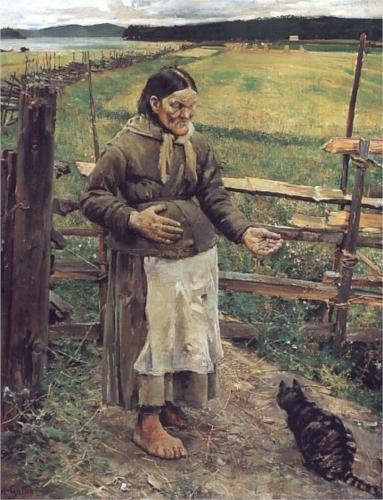 akseli Gallen-Kallela1885old-woman-with-a-cat-1885.jpg!Blog.jpg
