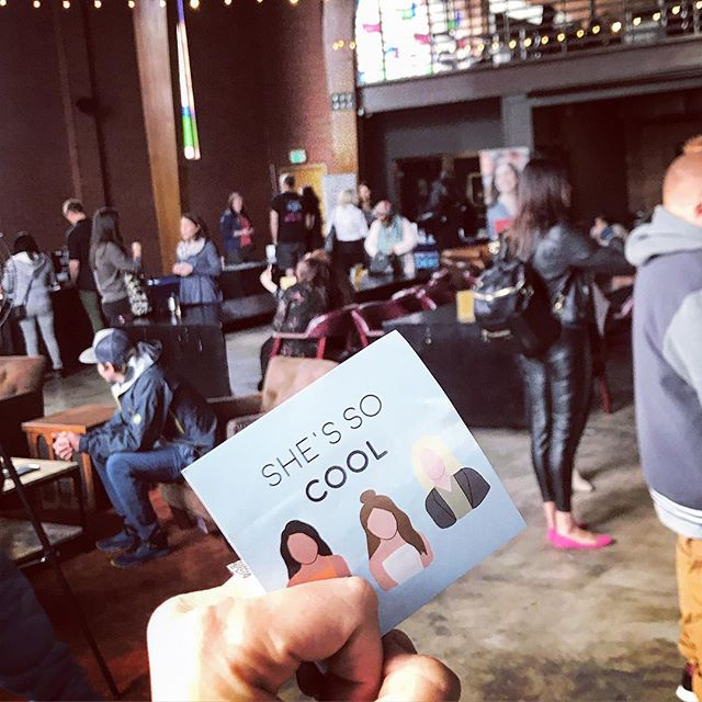 A cool 😎 connection today @churchandstate1893 Munch & Mingle! Engaging and exciting stuff @shessocoolpod #coworking #podcast #shessocool #networking