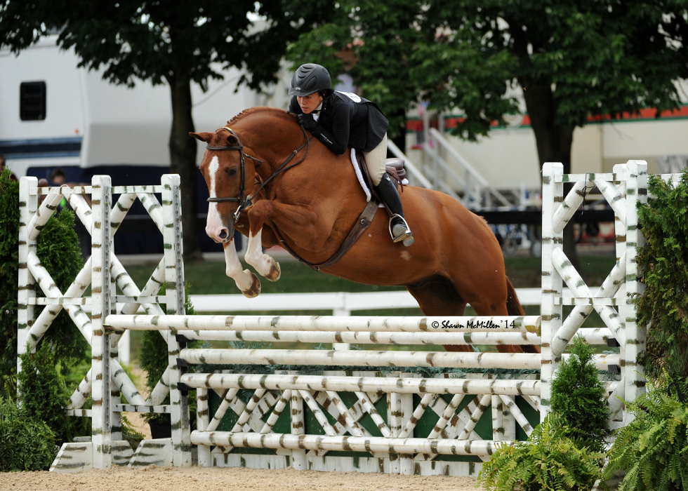 "Ashleen Lee and Red Sky in the 3'3"" Performance Hunters at Kentucky Summer Classic 2014"
