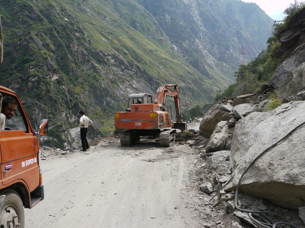 Landslides frequently block the road. The only choice is to wait for it to be cleared