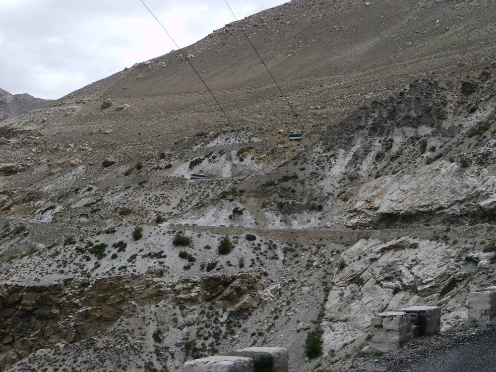The climbing starts - all the way up to Nako at 3700m.
