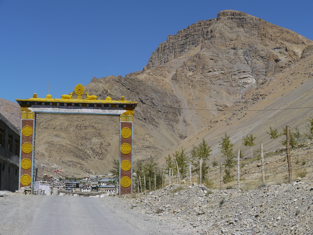 The Gateway to Ki Monastery and Kibber Village
