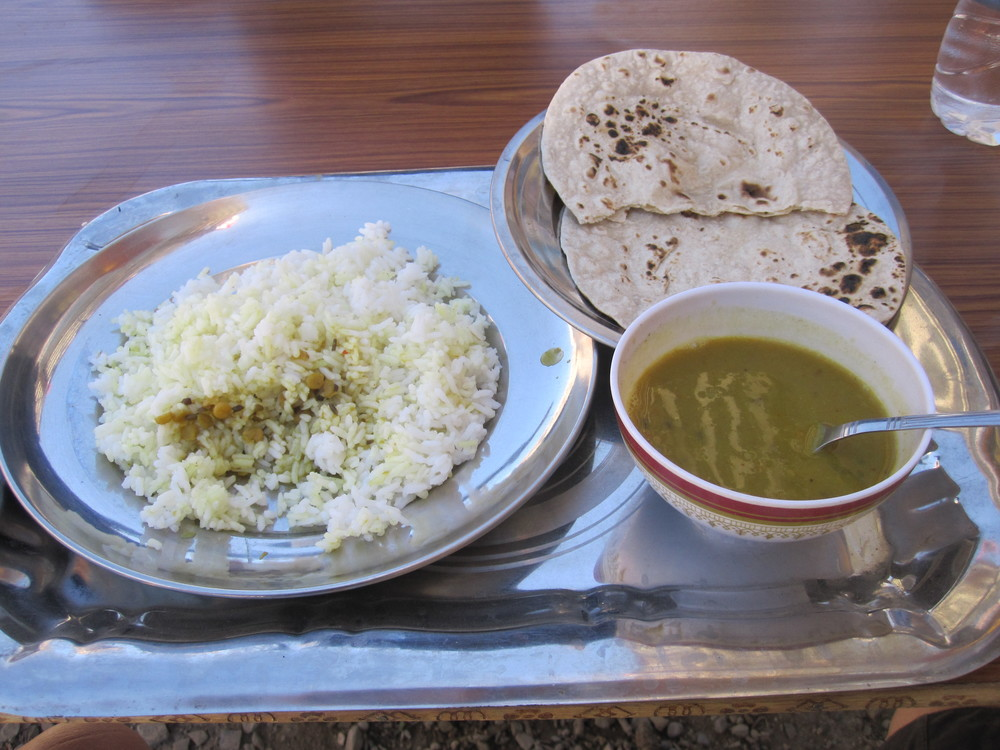 Lunch - Dal Bhat, Rice and Chappati