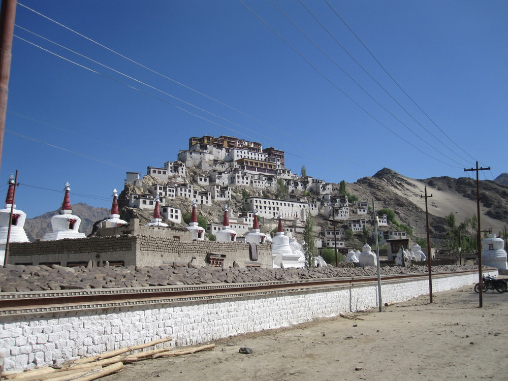 The road to Leh included passing the Thikse Gompa.