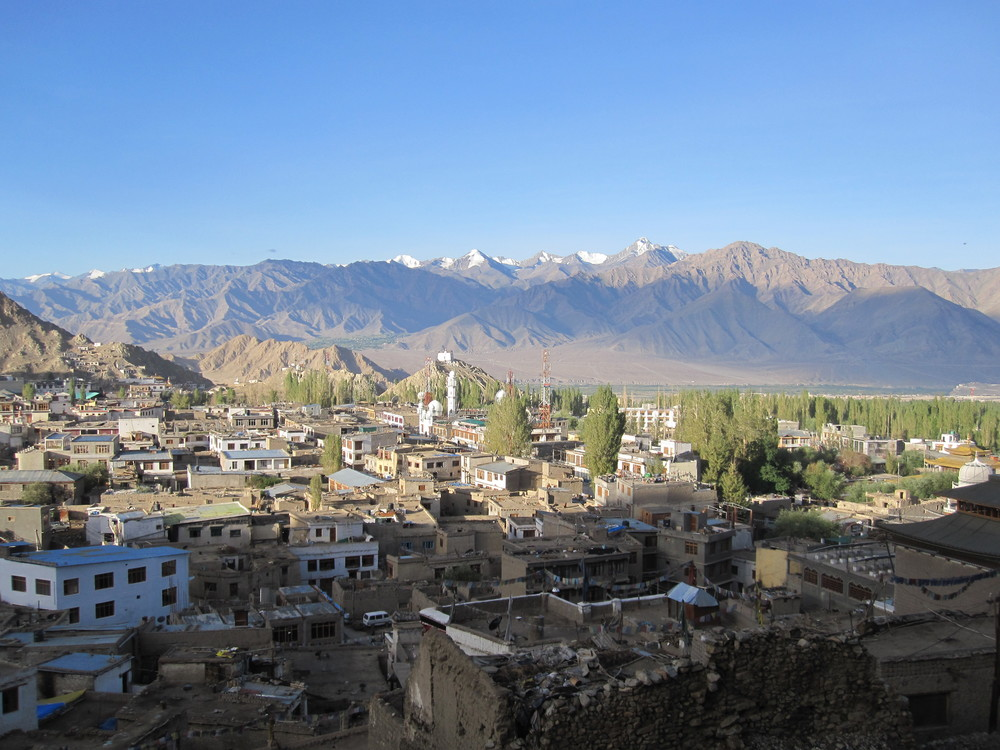 Leh in the morning light.