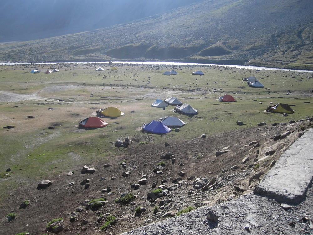 Temporary camps for shepherds grazing their animals.