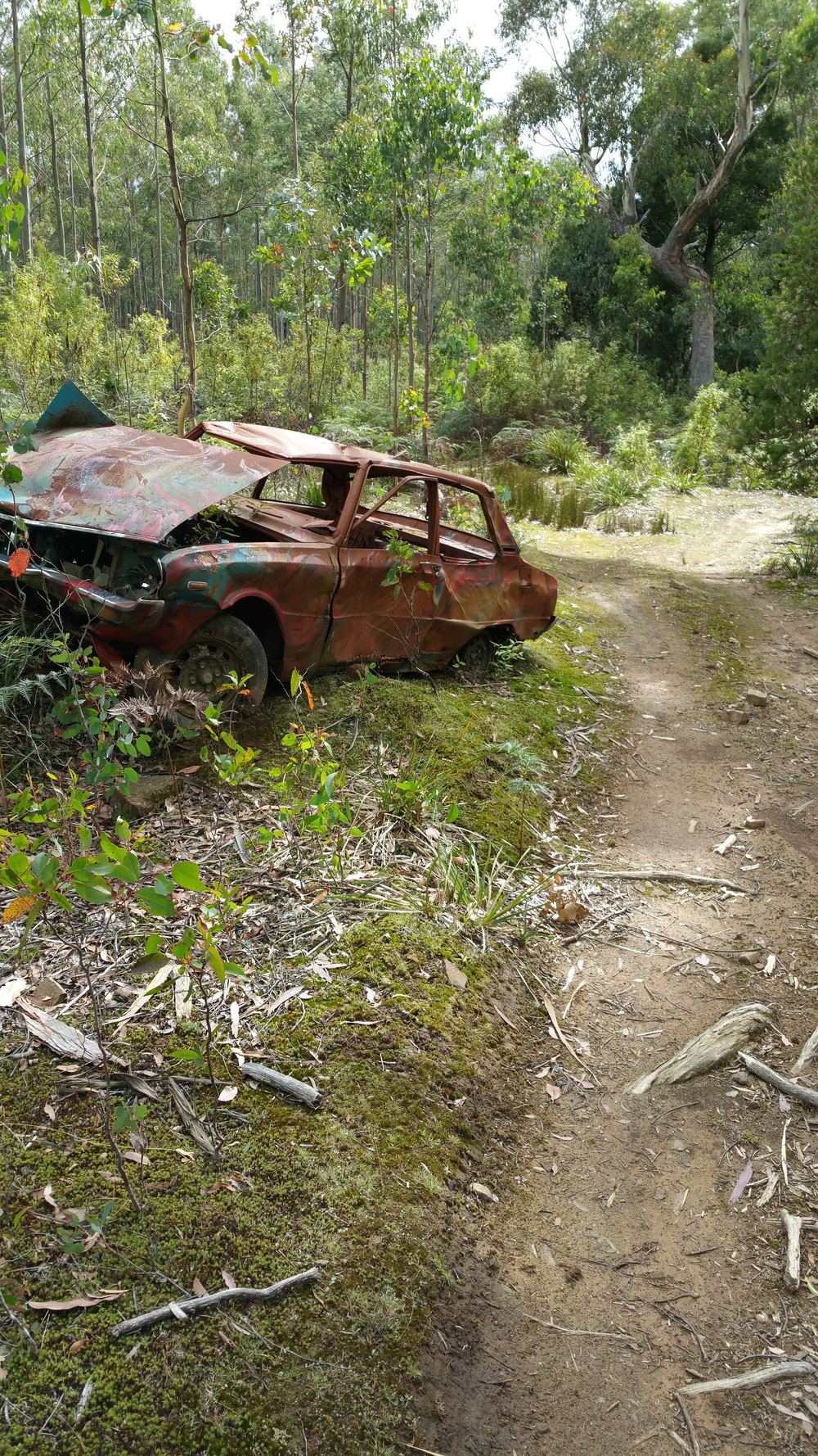 In the Gog Ranges. Not sure how this car got up here.