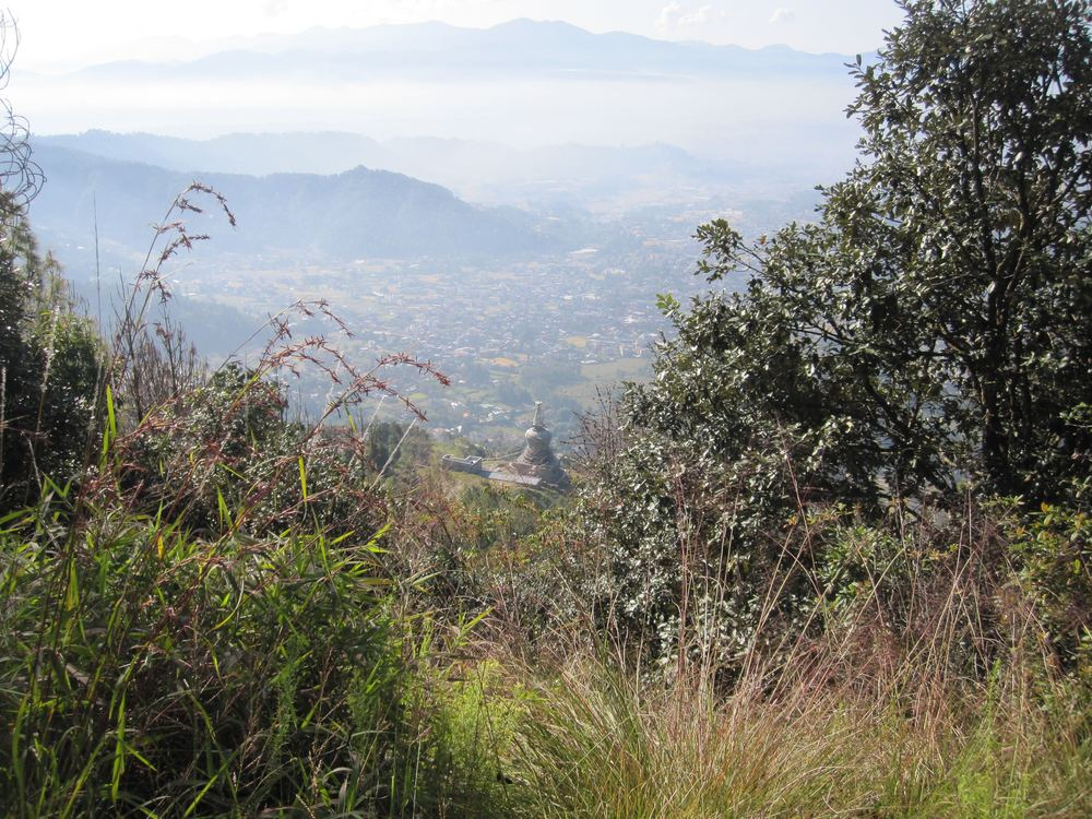 A view back into the Kathmandu valley from Shivapura National Park