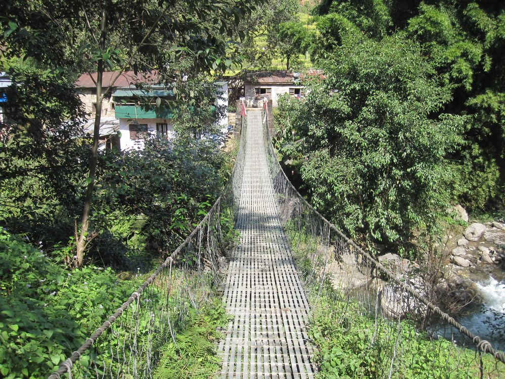 One of the many suspension bridges to come.
