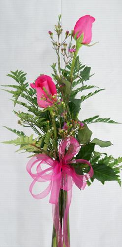 2 Rose Bud Vase Orchard Hills Floral Gifts