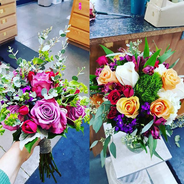 A couple of bouquets we made this past weekend!