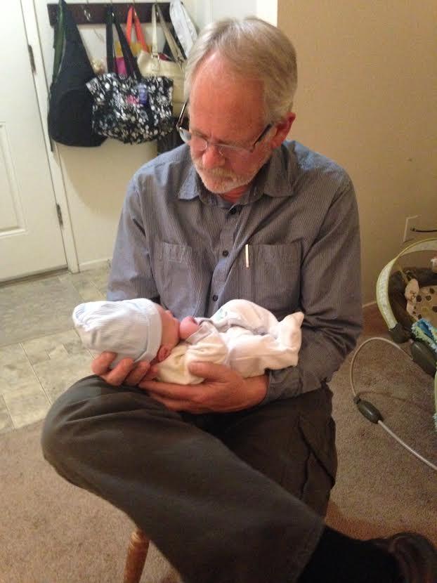 A proud grandpa.