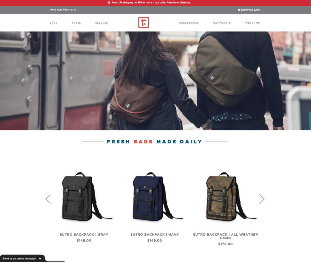 Rickshaw Bagworks website