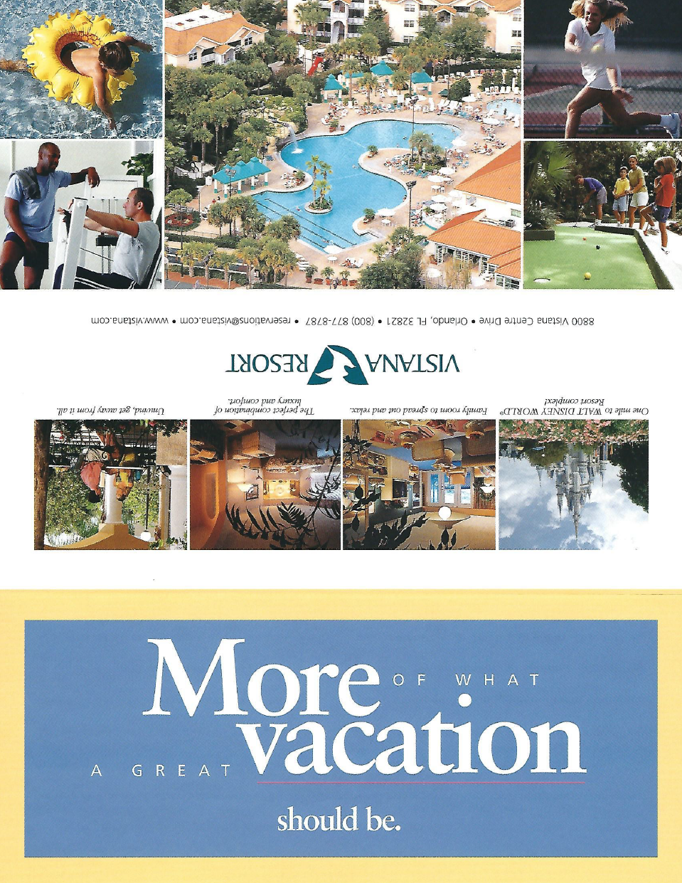 More Vacation Trifold Client: Vistana Resort Product: Promotional mailer (trifold)