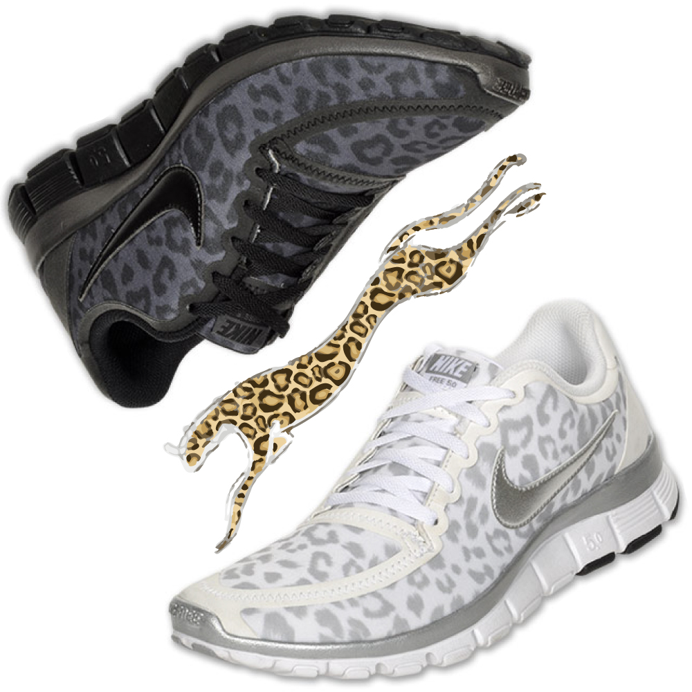 Nike Womens Running Shoes Cheetah Nike free run v4 5.0 leopard cheetah