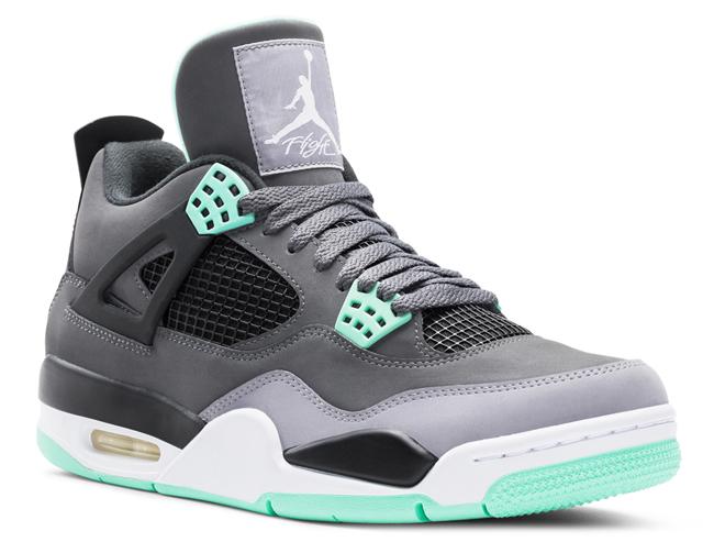 Air Jordan 4 Green Glow 1