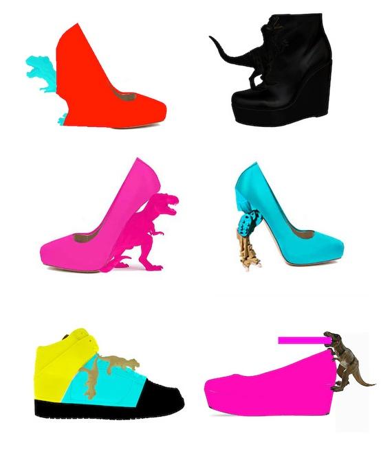 T - Rex Heels