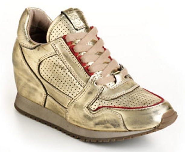 ASH Dean Bis Leather Wedge Sneakers