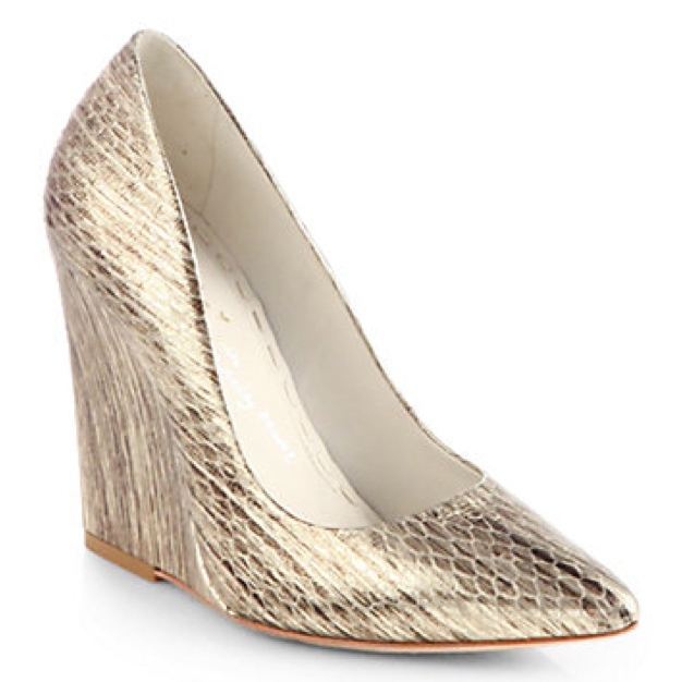 Alice + Olivia Odell Snake-Embossed Metallic Leather Wedges.jpg