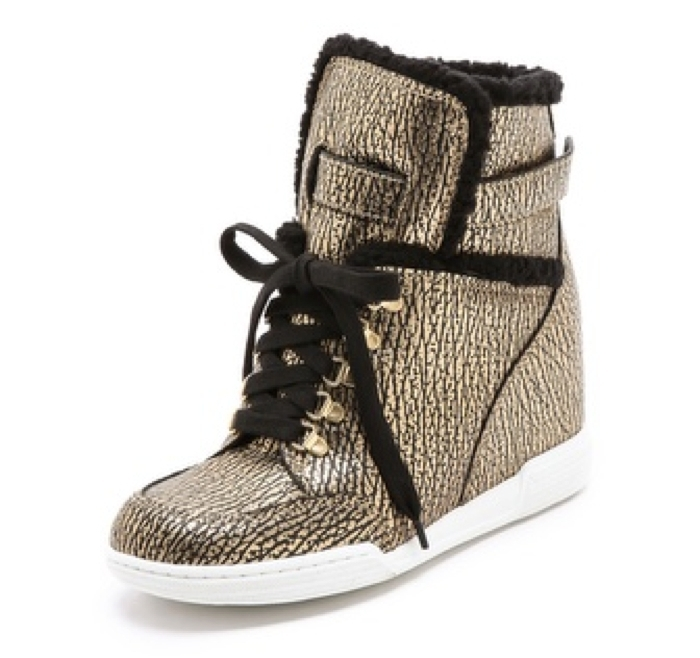 Marc by Marc Jacobs Sherpa Lined Metallic Wedge Sneakers.jpg