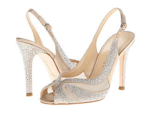 "Bedazzle your wedding dress with this well-made, inexpensive shoe.   Secure √ ::   Material √ ::  4.25"" instep"