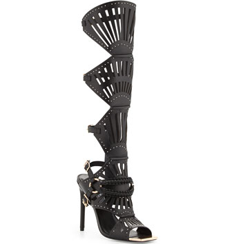 Hello sexy boots!!  The lines on the shaft of the shoe are sure to make you feel sassy