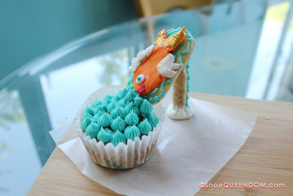 Fishy shoe cupcake! #ShoeCupcake #cupcakes