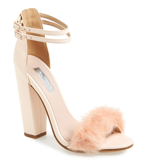 TopShop Faux Rabbit Fur Sandal, boudoir fanciness. Love!