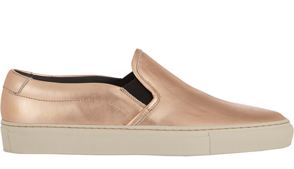 Common Projects Metallic Slip-On Sneakers