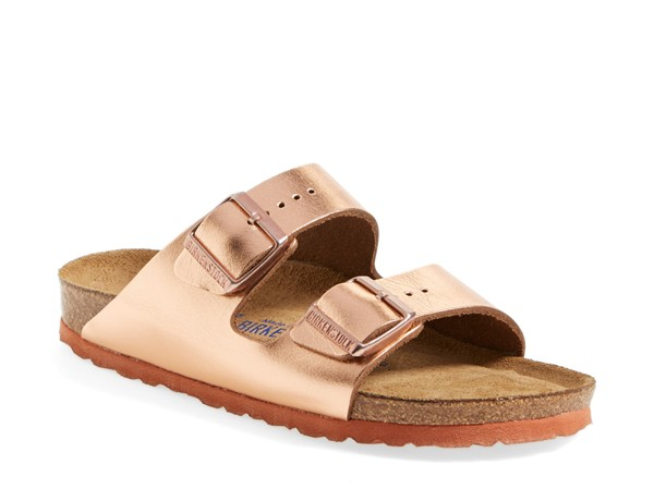 Birkenstock'Arizona' Soft Footbed Leather Sandal