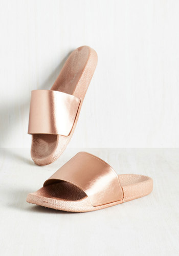 These are technically copper, but anything even close to rose gold for footwear, I love!!
