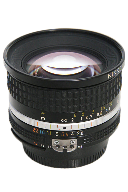 One of our lenses: Nikon 20mm AIS fixed Lens