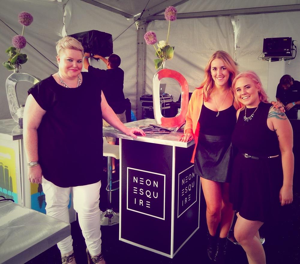 Neon Esquire team: Tara Murphy, Katie Schutrop, Josie Pace
