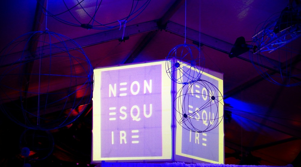 "Neon Esquire branding at Meet Minneapolis ""City by Nature"" event"
