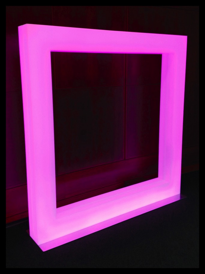 "The large LED square created by Hudson + Broad for J.C. Penney's new ""Fair and Square"" campaign. (image via WWD)"