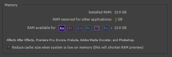 To adjust the amount of RAM allocated to After Effects specifically You can go to the Performance Section within the Preferences Menu.  A recommendation is never to go beyond the 75% mark of your entire computer's RAM amount.