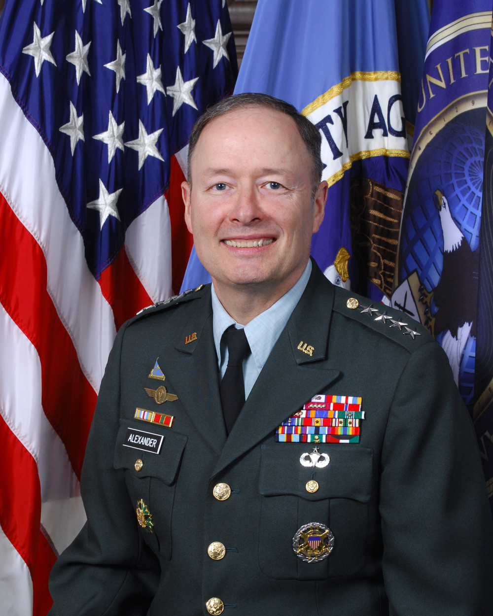 Above: Director of the National Security Agency (NSA), General Keith B.Alexander US Army