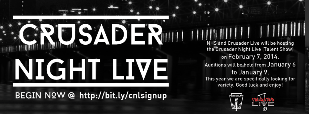 Facebook Cover for NHS Crusader Night Live