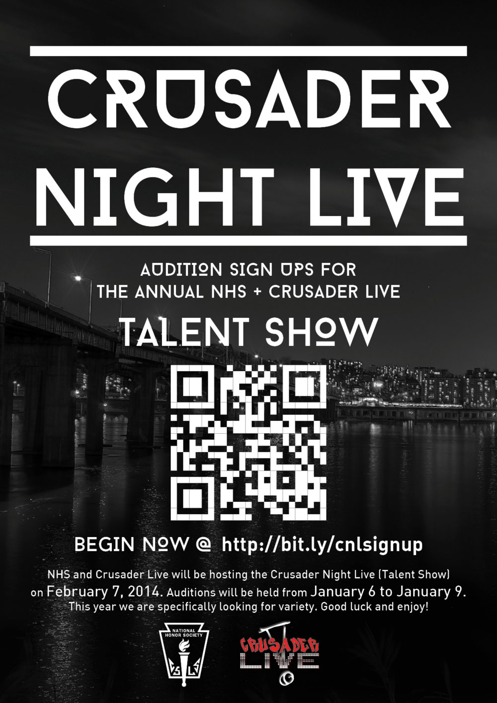 NHS Crusader Night Live First Poster