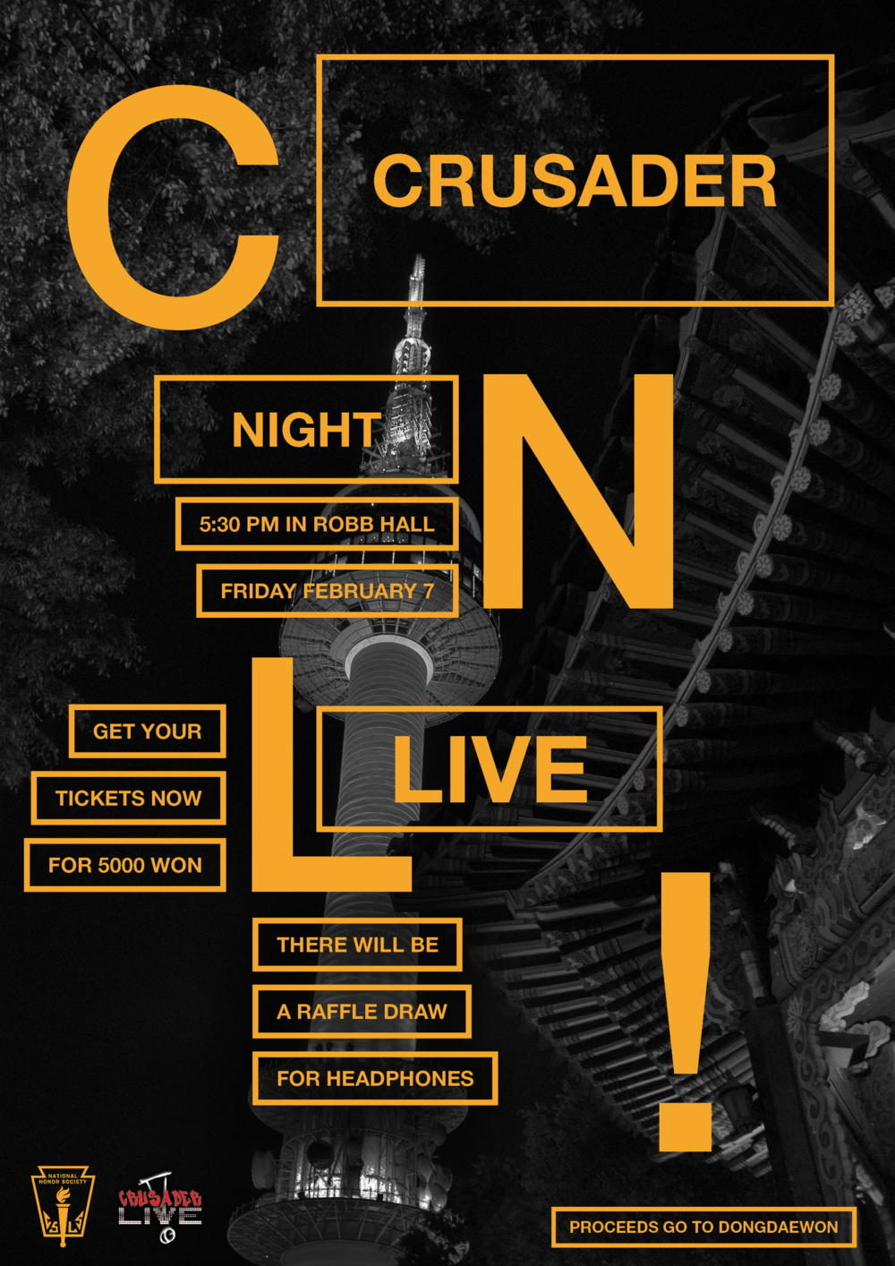 NHS Crusader Night Live Final Poster