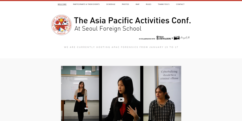 Seoul Foreign School APAC Website