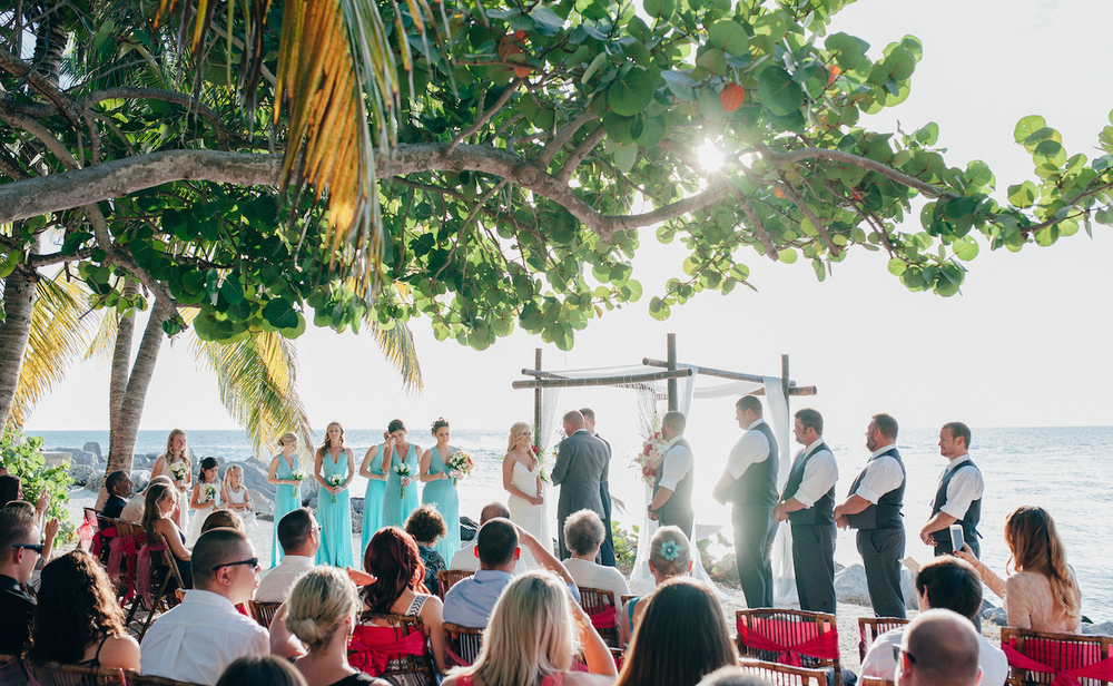 Wedding ceremony in Fort Zachary Taylor Park