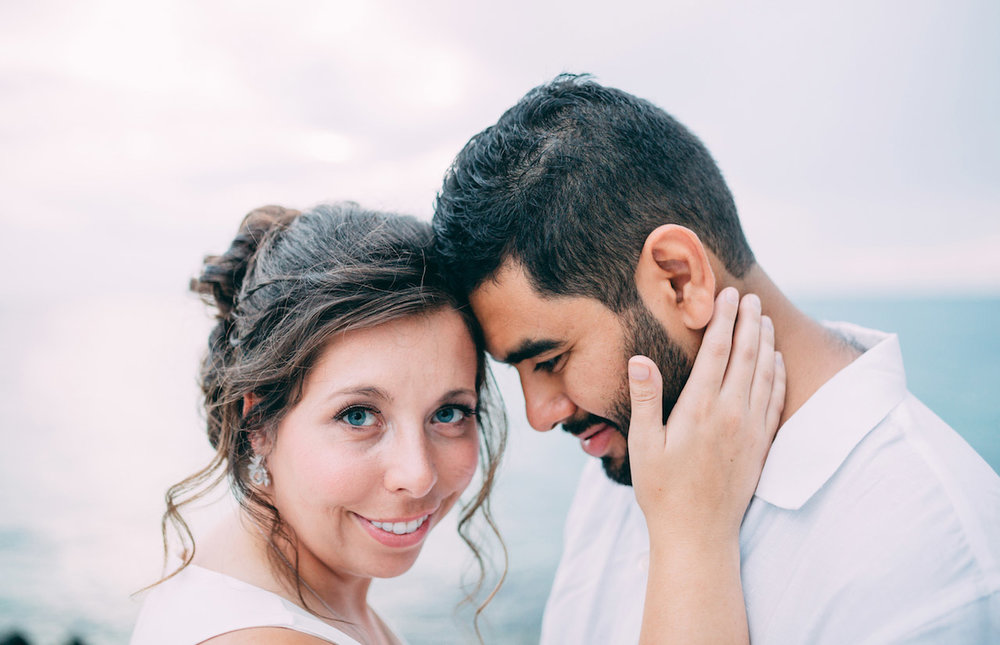 Gorgeous couple eloped at Fort Zachary Taylor state park, Key West Florida